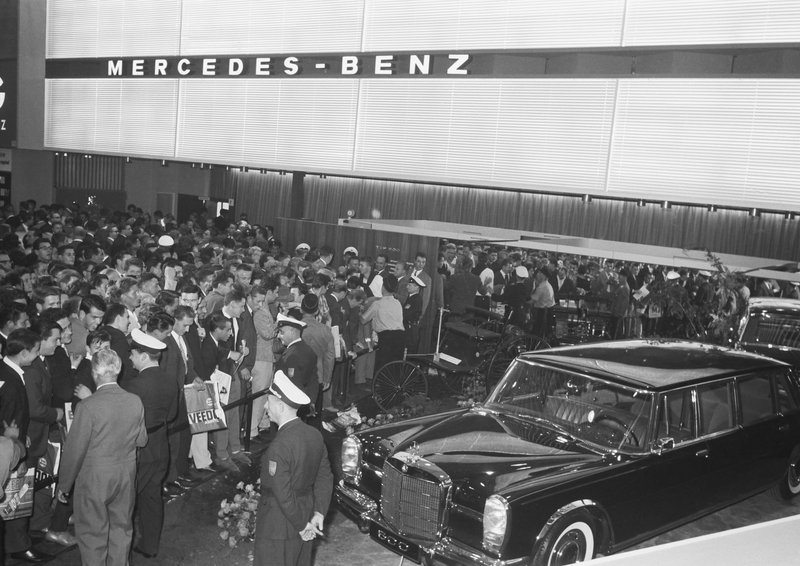 Mercedes 600 au salon de Francfort 1963