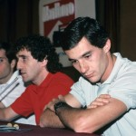Ayrton Senna et Alain Prost au Grand Prix du Mexique (1988). © Norio Koike