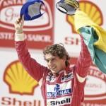 Ayrton Senna au Grand Prix du Brésil (1993). © Norio Koike