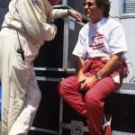 Sid Watkins, médecin de la F1, et Ayrton Senna au Grand Prix du Canada (1993). © Norio Koike