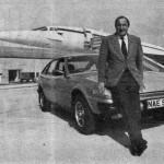Brian Trubshawe, pilote d'essai du Concorde, et sa Rover SD1