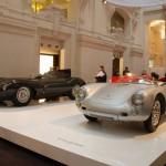 Jaguar XKD et Porsche 550 Spyder (1955) © Vincent Desmonts