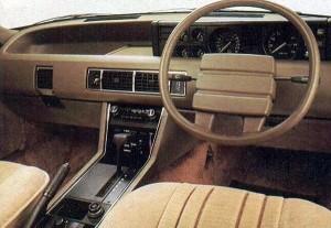 La planche de bord très futuriste (pour l'époque !) de la Rover SD1