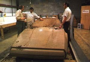 Maquette en clay de la Bricklin SV-1