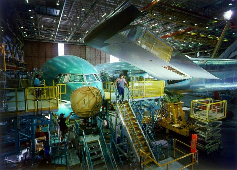 Les ateliers Boeing à Everett, Washington (image du film)