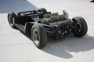 Châssis nu d'une Lamborghini Miura (photo CC Miuragirl/Wikipedia)