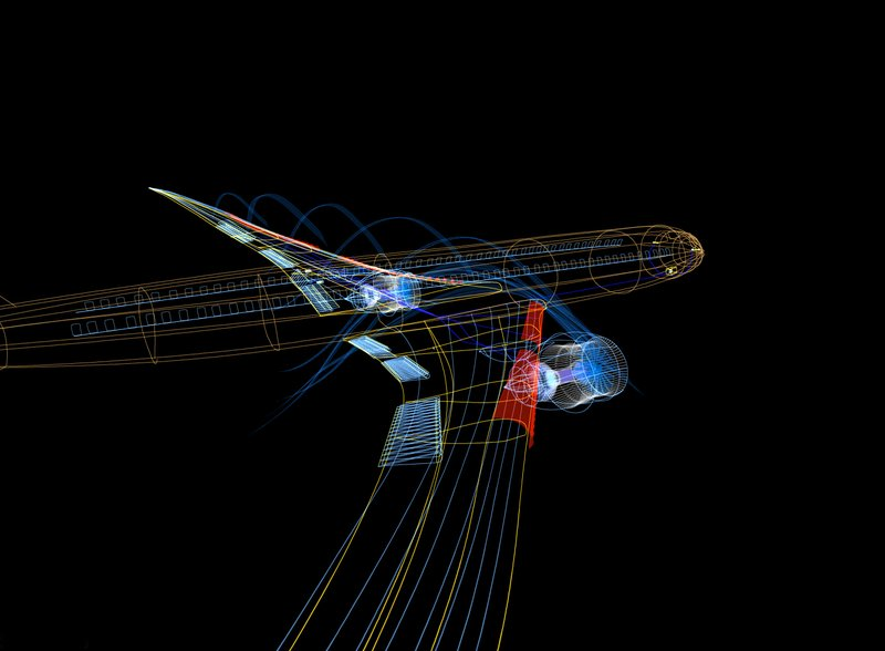 Animation 3D du Boeing 787 (image du film)