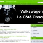 Capture d'écran du site de Greenpeace
