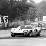 La GT40 Mk.I numéro 6 de Jacky Ickx et Jackie Oliver, équipage victorieux au Mans 1969.