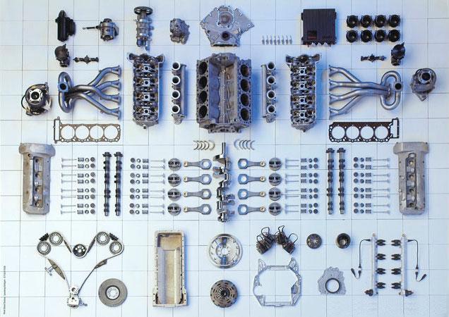 Le moteur M119 de la Mercedes 500 E
