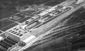 Vue d'ensemble du Lingotto vers 1928