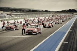 La grille de départ de la finale de l'Audi Endurance Expérience