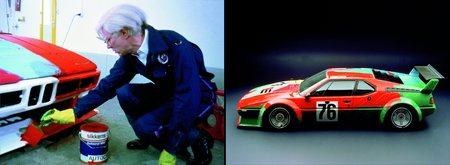 Andy Wahrol et sa BMW M1 Art Car (1979)