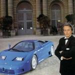 Alain Delon, parrain de la Bugatti EB110.
