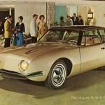 Carte publicitaire pour la Studebaker Avanti