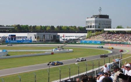La course du DTM à Hockenheim.