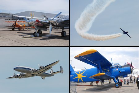 Des vieilleries : Lightning P-38, Fouga Magister, Super Constellation...