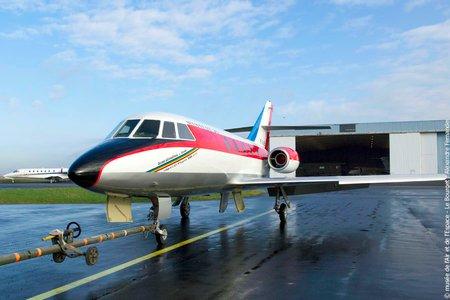 Le prototype restauré du Dassault Mystère 20 (© Musée de l'Air et de l'Espace/Alexandre Fernandes)