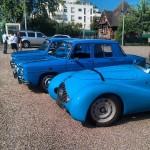 Une Simca et des Renault 8 Gordini