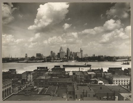 Detroit vers 1929 (source : Library of Congress)
