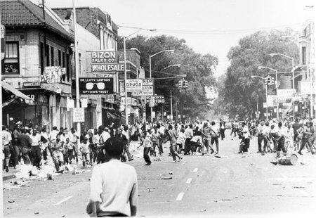Les émeutes de 1967 (© Detroit News)