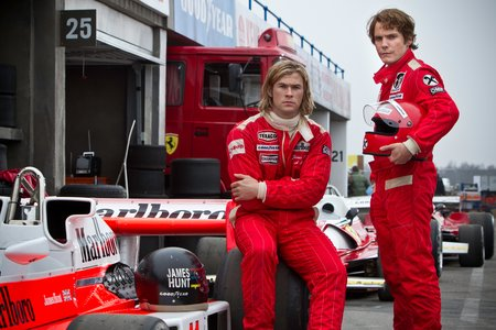 Chris Hemsworth et Daniel Brühl dans Rush, de Ron Howard.