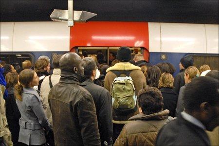 Le RER B un jour de grève. Ça fait envie, hein ? (photo CC Flickr/dalbera)