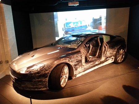 L'Aston DBS, qui souffre à nouveau dans «Quantum of Solace» (2008).
