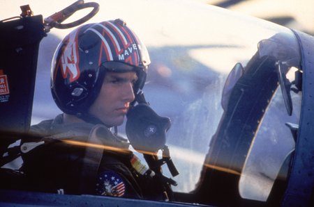 Tom Cruise, alias Maverick, dans Top Gun (© Splendor Films)