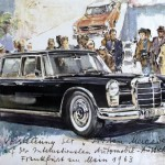 Mercedes 600, illustration de Heinz Liska (1963)