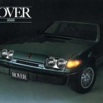 La Rover SD1 version américaine, avec doubles optiques et gros pare-chocs.
