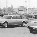 La Rover SD1 et ses sources d'inspiration (photo fournie par Ian Nicholls et Keith Adams).