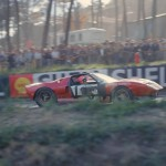 La GT40 Mk.I numéro 14 de Iness Ireland et Sir John Whitmore au Mans 1965.