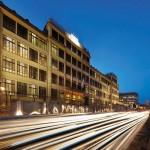 La façade de l'aile du Lingotto abritant le siège de Fiat
