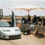 La Bugatti EB110 SuperSport à Nardo.
