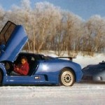 L'EB110 lors des tests froids en Suède.
